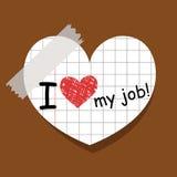 Ik houd van mijn baan Stock Afbeelding