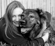Ik houd van Mijn Doggie3 Stock Fotografie