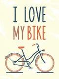 Ik houd van mijn fiets Royalty-vrije Stock Foto