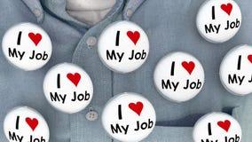 Ik houd van Mijn Job Buttons Pins Working Career-Spelden Stock Afbeeldingen