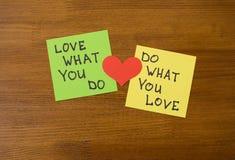 Ik houd van Mijn Job Concept Stock Foto's