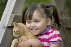 Ik houd van mijn katje Stock Foto's