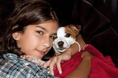 Ik houd van mijn kleine hond royalty-vrije stock afbeelding