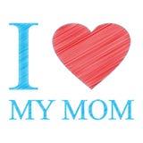 Ik houd van mijn mamma Stock Afbeeldingen