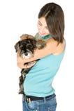 Ik houd van mijn puppy Stock Afbeeldingen