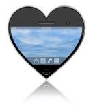 Ik houd van mijn smartphone stock afbeelding