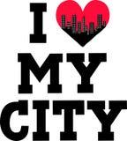 ik houd van mijn stad Royalty-vrije Stock Foto