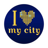Ik houd van mijn stads Vectoreps 10 illustratie stock illustratie