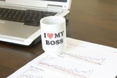 Ik houd van mijn werkgever Stock Foto's