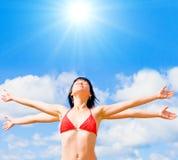 Ik houd van mijn zon Stock Foto