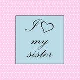 Ik houd van Mijn Zuster vector illustratie