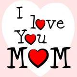 Ik houd van Mum vertegenwoordig Tederheidsmoeder en Hartstocht stock illustratie