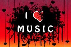 Ik houd van muziek Stock Fotografie