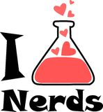 Ik houd van nerds Royalty-vrije Stock Fotografie