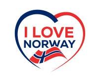 Ik houd van Noorwegen vector illustratie