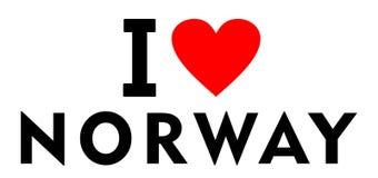 Ik houd van Noorwegen royalty-vrije illustratie