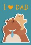 Ik houd van papa Royalty-vrije Illustratie