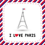 Ik houd van Parijs card5 Royalty-vrije Stock Foto's