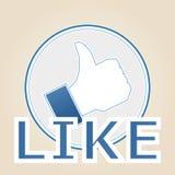 Ik houd van pictogram Stock Afbeelding