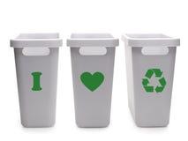 Ik houd van recyclerend Stock Foto's