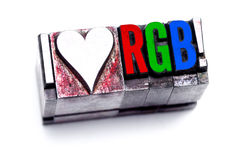 Ik houd van RGB Royalty-vrije Stock Foto's