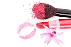 Ik houd van roze omhoog maak. Stock Afbeelding