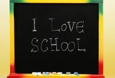 Ik houd van school stock foto