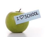 Ik houd van school Stock Foto's
