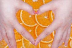 Ik houd van sinaasappel Royalty-vrije Stock Foto's