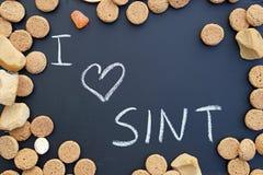Ik houd van sint geschreven in het Nederlands stock afbeelding