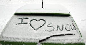Ik houd van sneeuw Royalty-vrije Stock Fotografie