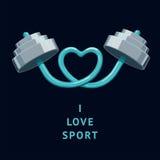 Ik houd van sport royalty-vrije illustratie
