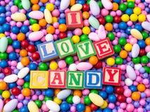 Ik houd van Suikergoed Royalty-vrije Stock Afbeelding