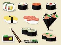 Ik houd van Sushi! Vector Illustratie