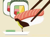Ik houd van Sushi! Royalty-vrije Illustratie
