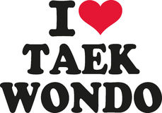 Ik houd van taekwondo stock illustratie