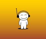 Ik houd van te luisteren muziek royalty-vrije illustratie
