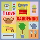 Ik houd van tuinierend Stock Foto