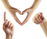 Ik houd van u! Stock Foto