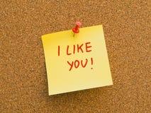 Ik houd van u Stock Foto