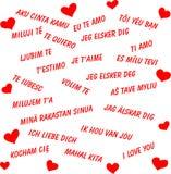 Ik houd van u in alle talen van de wereld Stock Afbeeldingen