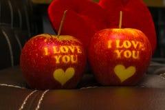 Ik houd van u appel Stock Afbeeldingen