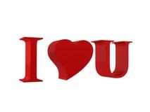 Ik houd van u - de Dag van de Valentijnskaart Stock Afbeelding