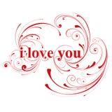 Ik houd van u, de kaart van de valentijnskaartendag Royalty-vrije Stock Afbeelding