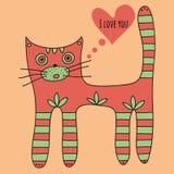 Ik houd van u groetkaart voor de Dag van Valentine vector illustratie