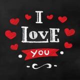 Ik houd van u Het mooie van letters voorzien Royalty-vrije Stock Afbeeldingen