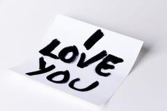 Ik houd van u kaard Stock Afbeelding
