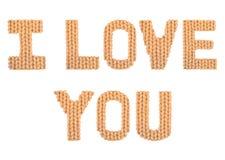Ik houd van u Kleurensinaasappel Stock Foto
