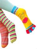 Ik houd van u met al mijn benen Stock Foto