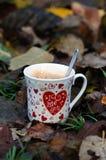 Ik houd van u, ochtendkoffie Stock Foto